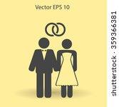 marriage vector icon | Shutterstock .eps vector #359366381
