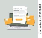 purchase order illustration...   Shutterstock .eps vector #359370101