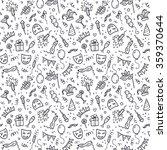 black carnival symbols in... | Shutterstock .eps vector #359370644