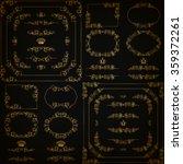 vector set of gold decorative...   Shutterstock .eps vector #359372261