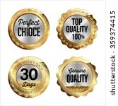 gold and silver badges. set of... | Shutterstock .eps vector #359374415
