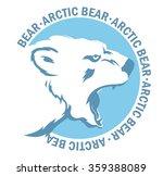 mascot arctic roaring bear | Shutterstock .eps vector #359388089