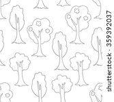 seamless forest doodle pattern. ...   Shutterstock .eps vector #359392037