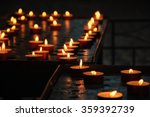 Candles In Church. Selective...