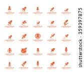 rocket icons set   isolated on...