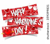 happy valentines day greeting... | Shutterstock .eps vector #359399831
