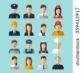 professions vector flat icons.... | Shutterstock .eps vector #359412917