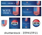 usa presidential election set... | Shutterstock .eps vector #359415911