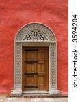 carved medieval stone door in... | Shutterstock . vector #3594204