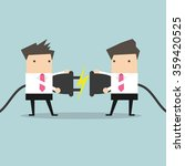 two businessman trying to...   Shutterstock .eps vector #359420525