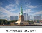 Statue Of Liberty On Liberty...