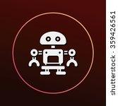 robot icon | Shutterstock .eps vector #359426561