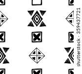 black and white vector aztec... | Shutterstock . vector #359437721