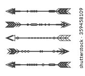 set of abstract arrows on a... | Shutterstock .eps vector #359458109