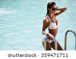 elegant sexy woman in the white ... | Shutterstock . vector #359471711