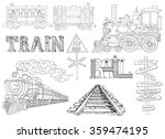 black and white set with... | Shutterstock .eps vector #359474195