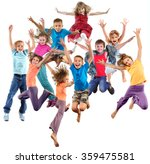 large group of happy cheerful... | Shutterstock . vector #359475581