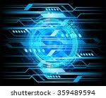 dark blue color light abstract... | Shutterstock .eps vector #359489594
