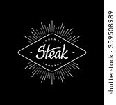 label steak with hand lettering.... | Shutterstock .eps vector #359508989