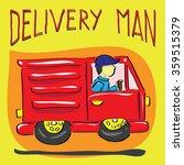 delivery man car vector | Shutterstock .eps vector #359515379