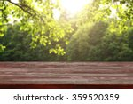 red wooden desk of spring time... | Shutterstock . vector #359520359