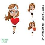 woman doctor  vector | Shutterstock .eps vector #359521061