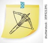 crossbow doodle | Shutterstock .eps vector #359521391