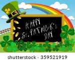 blackboard outdoor with saint... | Shutterstock .eps vector #359521919