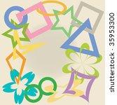 geometric shapes   Shutterstock .eps vector #35953300
