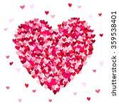 big beautiful heart consisting...