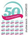 template logo anniversary set... | Shutterstock .eps vector #359548535