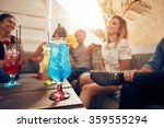 glasses of cocktail on table... | Shutterstock . vector #359555294