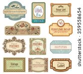 different vintage art nouveau... | Shutterstock .eps vector #359558654