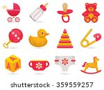 baby time icon set | Shutterstock . vector #359559257
