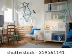 spacious and light studio flat... | Shutterstock . vector #359561141