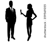 silhouette of the lady and... | Shutterstock .eps vector #359569355