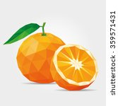 polygonal tangerine in vector | Shutterstock .eps vector #359571431