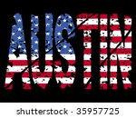 grunge austin text with... | Shutterstock . vector #35957725