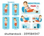 treatment of menstrual pain ... | Shutterstock .eps vector #359584547