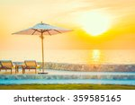 beautiful luxury hotel swimming ... | Shutterstock . vector #359585165