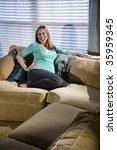 happy pregnant woman relaxing... | Shutterstock . vector #35959345