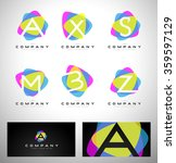 colorful letter logo design.... | Shutterstock .eps vector #359597129