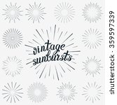 vector set of sunbursts graphic ... | Shutterstock .eps vector #359597339