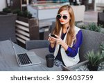 outdoor portrait of a young... | Shutterstock . vector #359603759