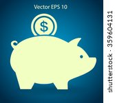 piggy bank for the money vector ...