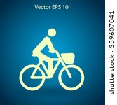 flat cyclist icon | Shutterstock .eps vector #359607041