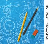 vector technical blueprint of ... | Shutterstock .eps vector #359612231