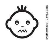 cute baby face emotion icon... | Shutterstock .eps vector #359613881