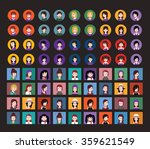 set of people icons in flat... | Shutterstock .eps vector #359621549