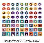set of people icons in flat... | Shutterstock .eps vector #359621567